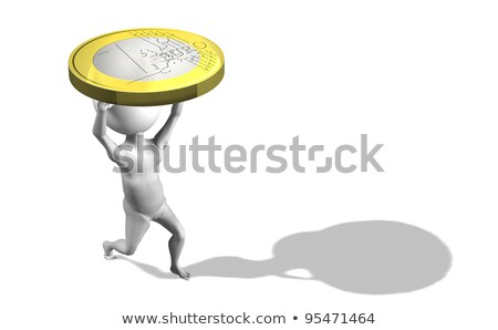 A 3d guy in UE carrying 1 euro stock photo © photocreo