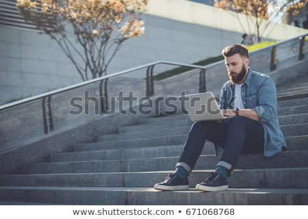 businessman outside with a laptop stock photo © photography33