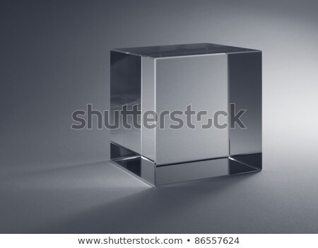 solid glass cube Stock photo © prill