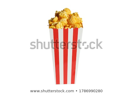 Stockfoto: Breed · popcorn · klassiek · vak · theater · geïsoleerd