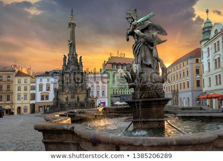 Történelmi tér Csehország központ regisztrált unesco Stock fotó © frank11