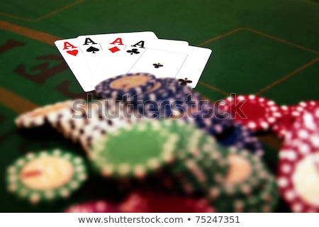 four aces and a big pile of chips Stock photo © morrbyte