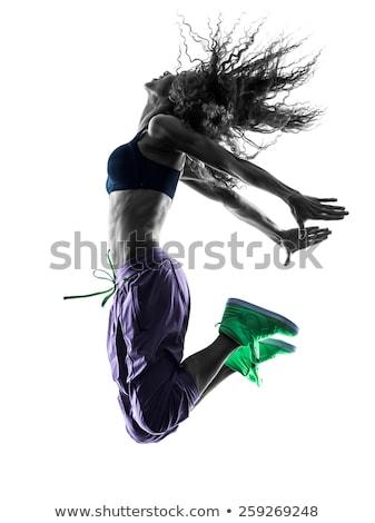 полный энергии женщину танцовщицы вид сбоку кричали Сток-фото © feedough
