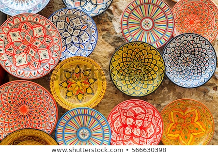 Arabe coloré poterie belle bols mosaïque Photo stock © mythja