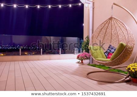 стульев · терраса · четыре · таблице · Председатель · расслабляющая - Сток-фото © sigur