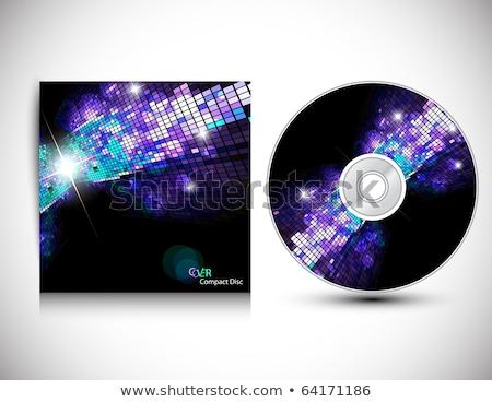 Foto stock: Abstrato · colorido · musical · cd · cobrir · modelo