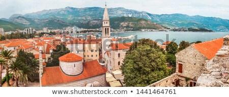 the panorama of budva old town montenegro stock photo © vlad_star