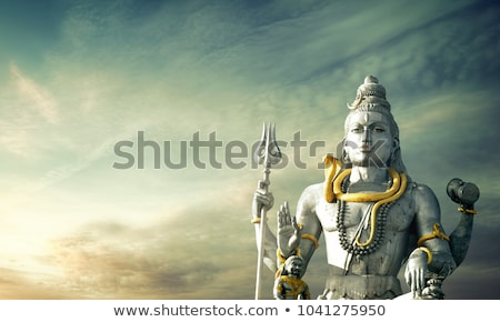Photo stock: Shiva · idole · énorme · temple · nature · bleu