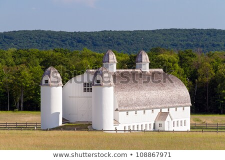 giant barn and silos stock photo © kenneth_keifer
