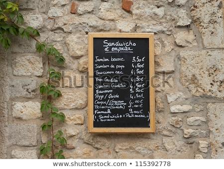 Stok fotoğraf: Fransız · pazar · imzalamak · fiyatlar · para