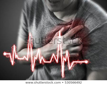 volwassen · man · hartaanval · volwassen · zakenman · borst · man - stockfoto © sumners