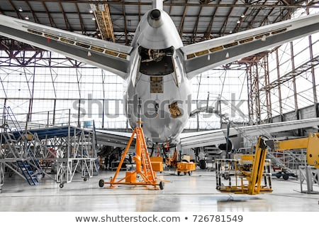 Nagy repülőgép égbolt üzlet háttér repülőgép Stock fotó © pzaxe