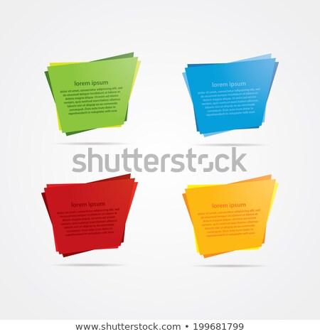 Vektör dört renkli kabarcık etiketler yansıma Stok fotoğraf © vitek38