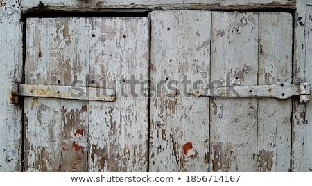Сток-фото: старые · двери · железной · здании · древесины