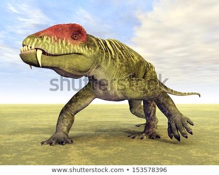 Dinoszaurusz Oroszország 3d render fehér 3D izolált Stock fotó © AlienCat