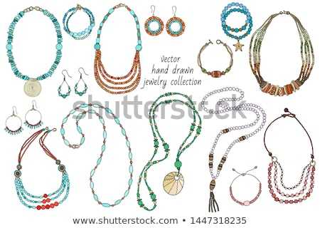 ékszerek nyaklánc csecsebecsék közelkép kilátás egyéb Stock fotó © Mikko
