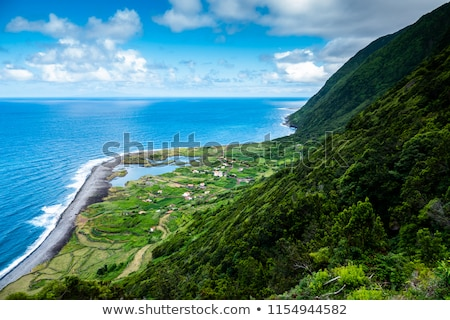 Tarde vista isla cielo naturaleza Foto stock © dinozzaver