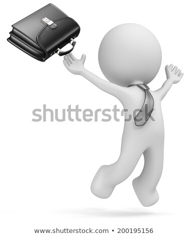 businessman with briefcase jumping stock photo © iofoto