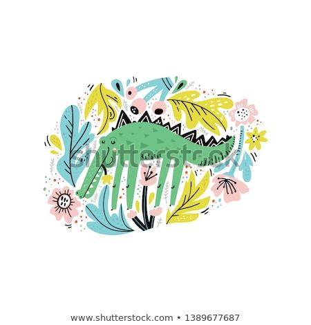 аллигатор рисованной эскиз стороны интернет веб Сток-фото © cteconsulting
