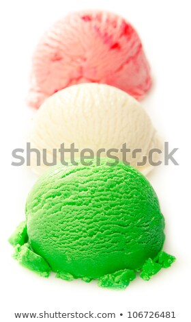 Photo stock: Tricolor · icecream · photos · trois · différent · chocolat