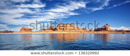 panoramic view of famous lake powell stock photo © vwalakte