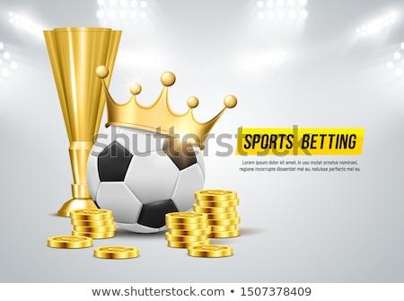 Gouden munt stadion 3D afbeelding laurier krans Stockfoto © cteconsulting