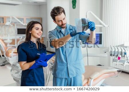медсестры · команда · девушки · медицинской · столе - Сток-фото © wavebreak_media