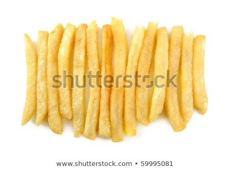 Patates kızartması beyaz gıda arka plan yeme Stok fotoğraf © przemekklos