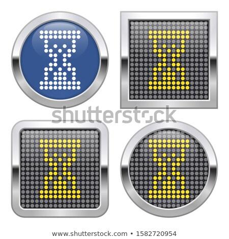soyut · parlak · kum · saati · ikon · iş · Internet - stok fotoğraf © rioillustrator