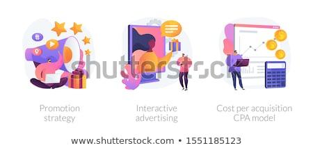 マーケティング メタファー 実例 シンボリック 職業 eps ストックフォト © obradart