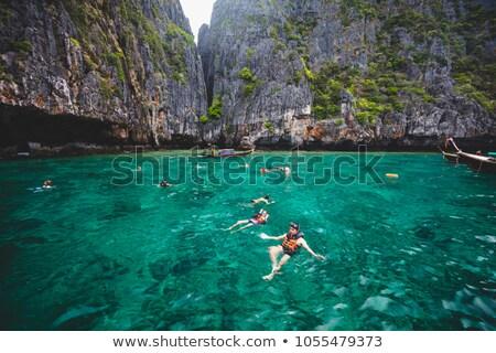 şnorkel okyanus su seyahat Stok fotoğraf © Witthaya