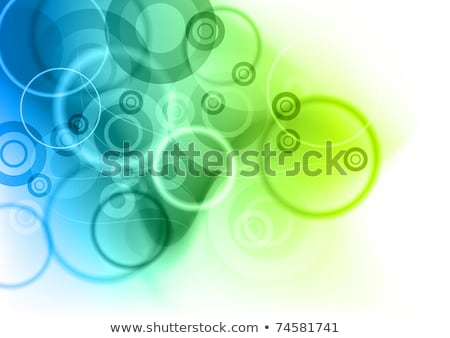 Stock fotó: Air Bubble On Blue And Green Background