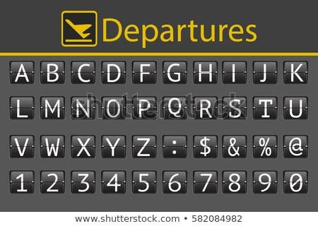 Tren istasyonu zamanlamak tahta bilgi zaman destinasyonlarda Stok fotoğraf © ArenaCreative