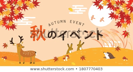 Cute Autumn background, vector illustration Stock photo © carodi