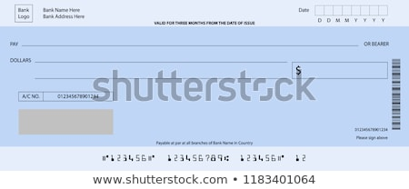 bank cheque stock photo © janaka