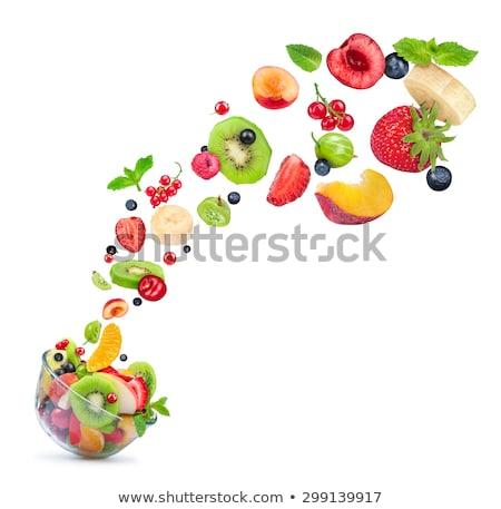 киви · свежие · сочный · изолированный · белый · фрукты - Сток-фото © tetkoren