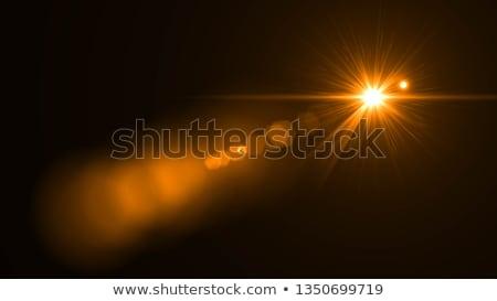 明るい 太陽 レンズ オレンジ 夏 空 ストックフォト © haraldmuc