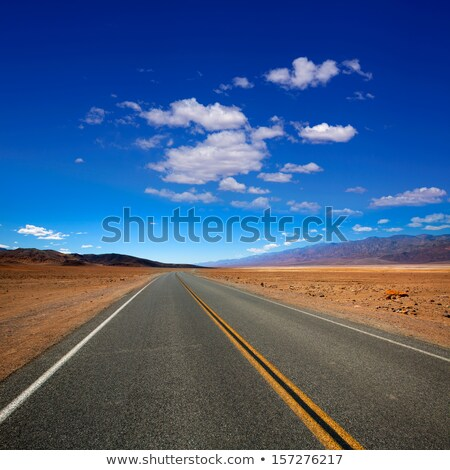 Deserted Route 190 highway in Death Valley California Stock photo © lunamarina