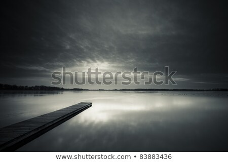 Viewing Platform Black and White Stock photo © wolterk