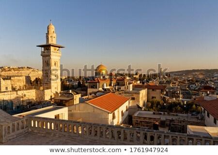 ミナレット · モスク · 屋根 · 旧市街 · カバー · 家 - ストックフォト © travelphotography