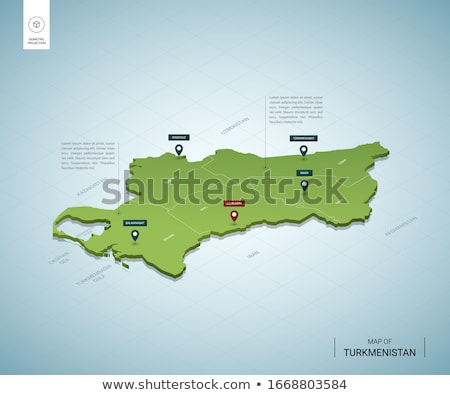 Green Turkmenistan map Stock photo © Volina