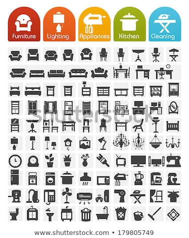 Vector Icon Series. Home Furniture. Stock photo © clipart_design