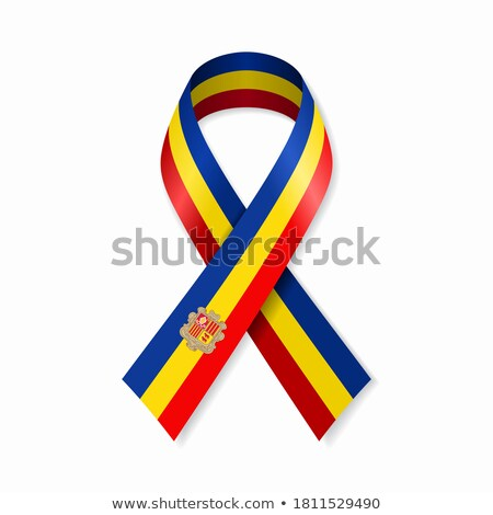 ribbon banner   andorran flag stock photo © stockwerkdk