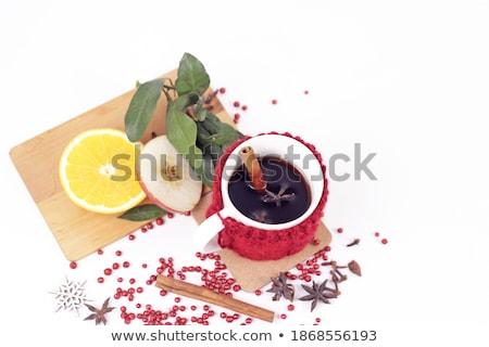 ストックフォト: ホット · おいしい · 辛い · 赤ワイン · オレンジ · シナモン