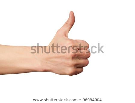 mannelijke · hand · tonen · duim · omhoog · positiviteit - stockfoto © bloodua