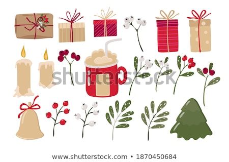 Alegre árvore de natal coleção celebração apresentação colorido Foto stock © bharat