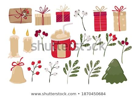 Merry christmas tree collection celebration presentation colorfu Stock photo © bharat