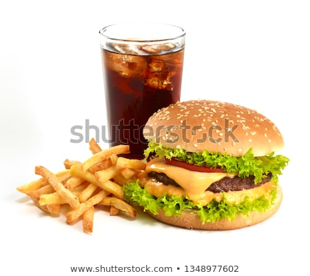 Hamburger kombináció illusztráció kombináció háttér kövér Stock fotó © taiyaki999