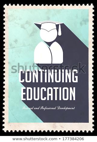 business · istruzione · azzurro · design · vintage · lungo - foto d'archivio © tashatuvango