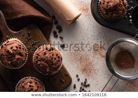 chocolate muffin on cutting board Stock photo © jirkaejc